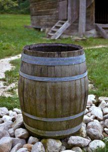 regenwassertank im garten 215x300 - Regenwassernutzung: Oberirdisch oder unterirdisch?