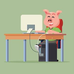 Können Schweine Videospiele spielen?