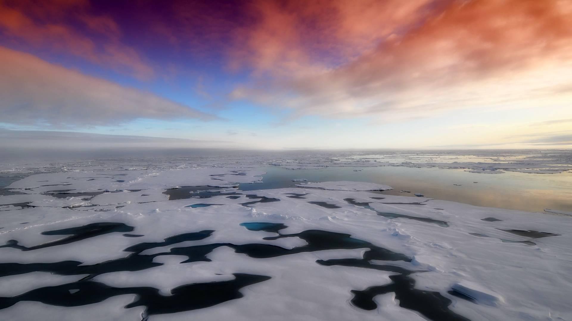 Eiskappen die schmelzen deformieren die Erde!