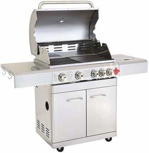 Détails sur la surface de cuisson du barbecue à gaz