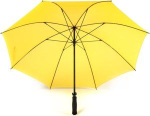 Parapluie automatique coloré ville poignée CROOK en plastique mariage parapluie marche