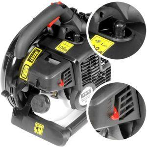 Quels sont les caractéristiques d'un aspirateur souffleur broyeur à moteur thermique?