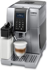 Les attributs de la machine à café avec broyeur DeLonghi ECAM350.75. S dans un comparatif gagnant