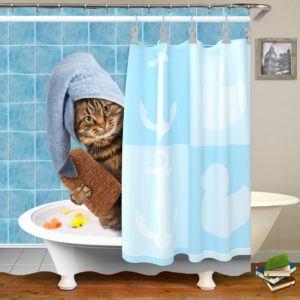 Le type de rideau douche anti moisissures