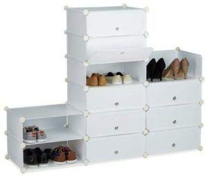 Description d'un meuble à chaussures à casiers dans un comparatif gagnant