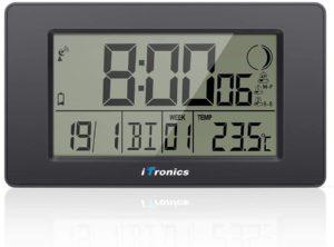 iTronics Horloge Radio-pilotée Numérique