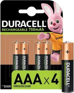 Descriptif du lot de piles rechargeables Duracell AAA 750 Mah dans un comparatif
