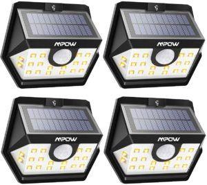Particularités de la lampe solaire Mpow 20 LED
