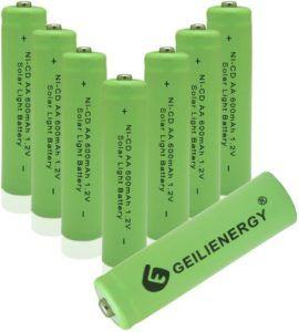 Description d'une pile rechargeable au nickel-cadmium dans un comparatif