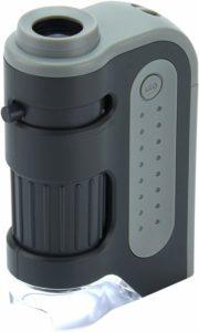 Aperçu du microscope de poche Carson MicroBrite Plus 60-120x dans un comparatif
