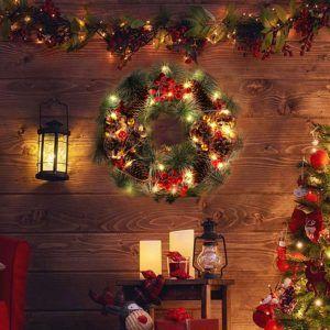Le type des Couronnes de Noël en bois