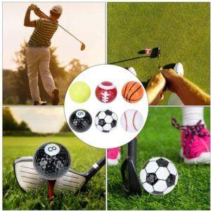 Des balles de golf avec plusieurs couches dans un comparatif