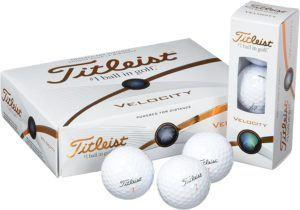 Descriptif du set de balles de golf Titleist Velocity dans un comparatif