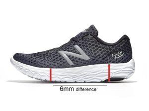 Le drop talons-orteils d'une chaussure de running dans un comparatif