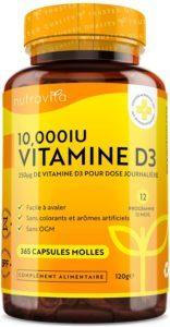 Tout savoir sur la vitamine D3 10000 UI Nutravita