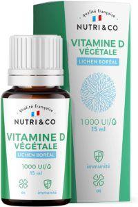 Descriptif de la vitamine D3 Végétale + huile de colza BIO 1000 UI Vegan Nutri & CO