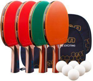 Senston Raquettes de Ping-Pong Set dans un comparatif
