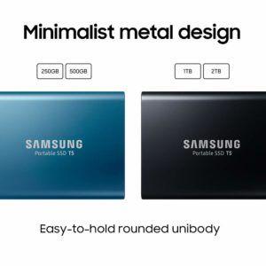 Retrouvez le disque dur externe SSD Samsung Portable T5