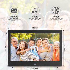 Le cadre photo numérique 10 pouces écran large