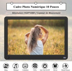Quel est le résultat du test d'ergonomie du cadre photo numérique?