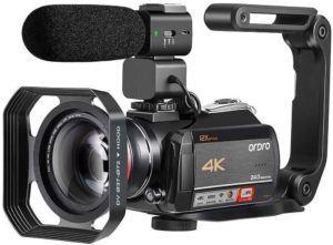 Particularités de la caméra vidéo ORDRO AC5
