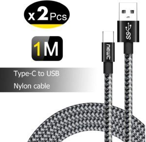NEW'C Lot de 2 Câble USB