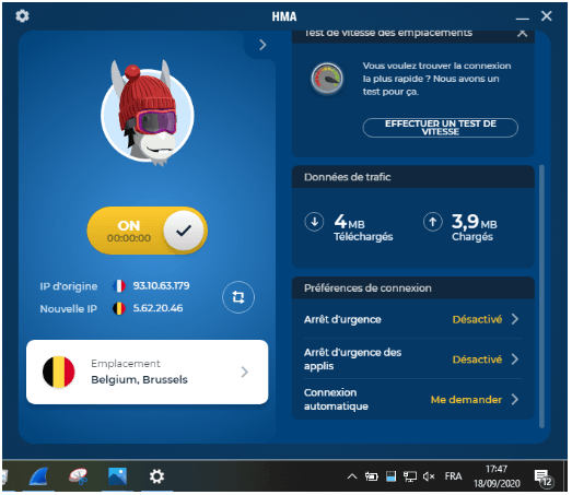 Description du VPN HMA
