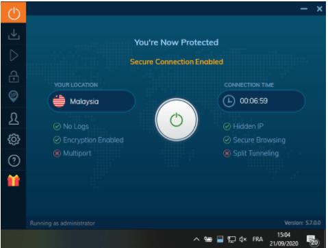 Système de protection Ivacy VPN