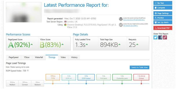 Comment tester la performance de Hostpapa ?